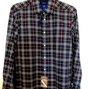 Egara Plaid Long Sleeve Button Down Shirt